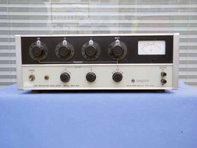 中古 目黒電波 低歪み発振器 MCR-402 (管理番号:UKK-09569)