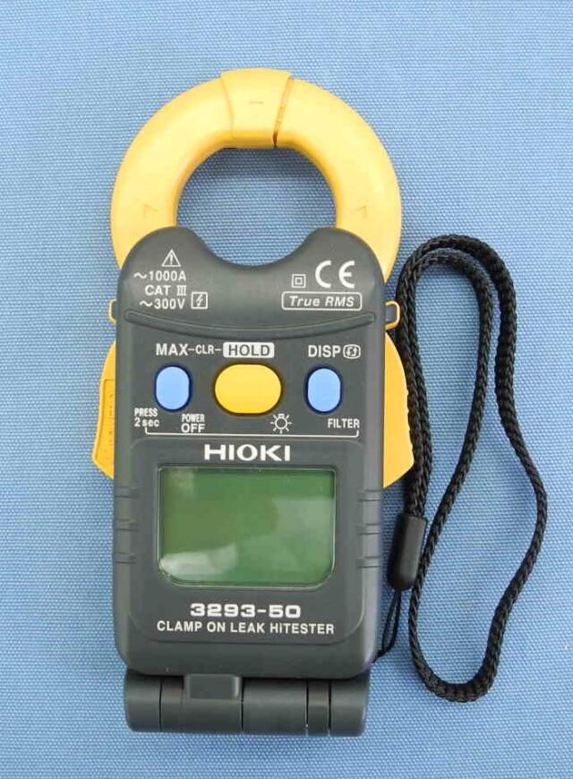 中古 日置電機 クランプオンリークハイテスタ 3293-50  (管理番号:UKK-10176)
