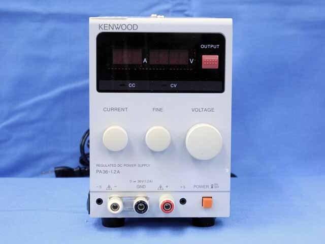 中古 テクシオ(ケンウッド) 直流安定化電源  PA36-1.2A (管理番号:UKK-10419)