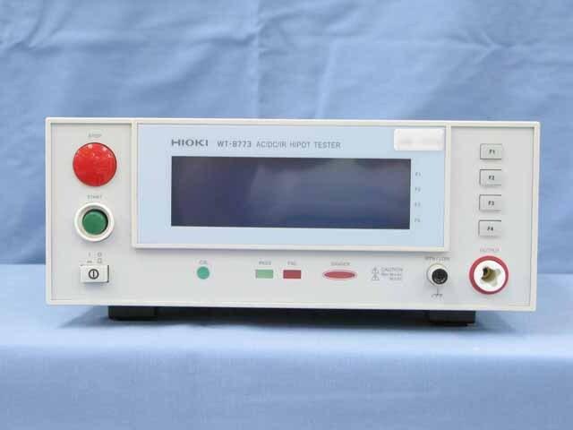 中古 日置電機 AC/DCデジタル耐圧絶縁計 WT-8773 (管理番号:UKK-10436)