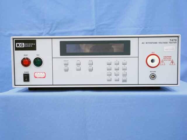 中古 計測技術研究所 AC耐電圧試験器 7470 (管理番号:UKK-10481)