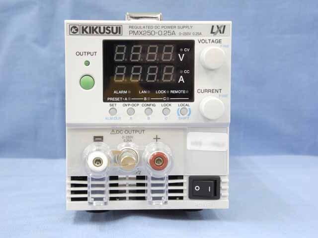 中古 菊水電子工業 直流安定化電源 PMX250-0.25A (200V入力仕様) (管理番号:UKK-10560)