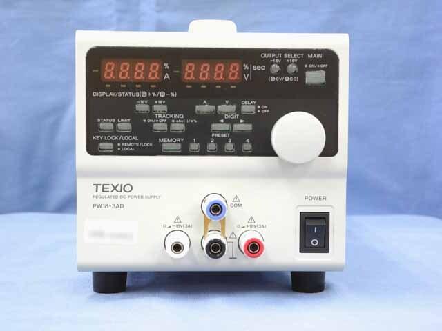 中古 テクシオ 直流安定化電源 PW18-3AD (200V入力仕様) (管理番号:UKK-10561)