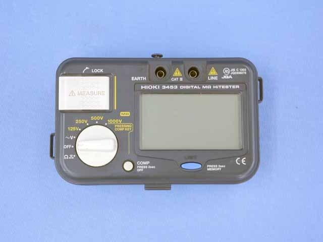 中古 日置電機 絶縁抵抗計 3453 (管理番号:UKK-10587)