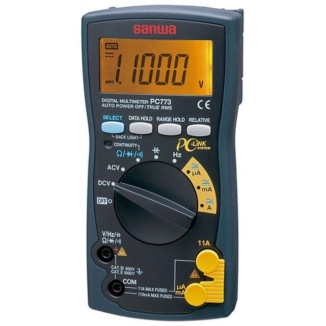 三和電気計器 デジタルマルチメータ 11000カウント 最小分解能 電圧0.01mV 抵抗0.01Ω PC773