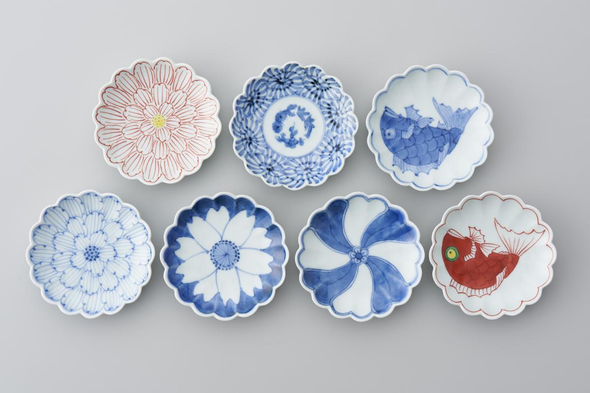 菊型3.5寸皿(10センチの小皿)