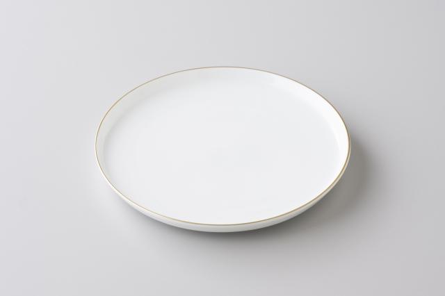 【料理と器 Part2掲載商品】渕金白磁6寸平皿