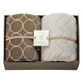 グランフランセヌーベル  ハイソフトタッチ マイヤー毛布&吸湿発熱綿入り敷パット No.150 (グレージュ)