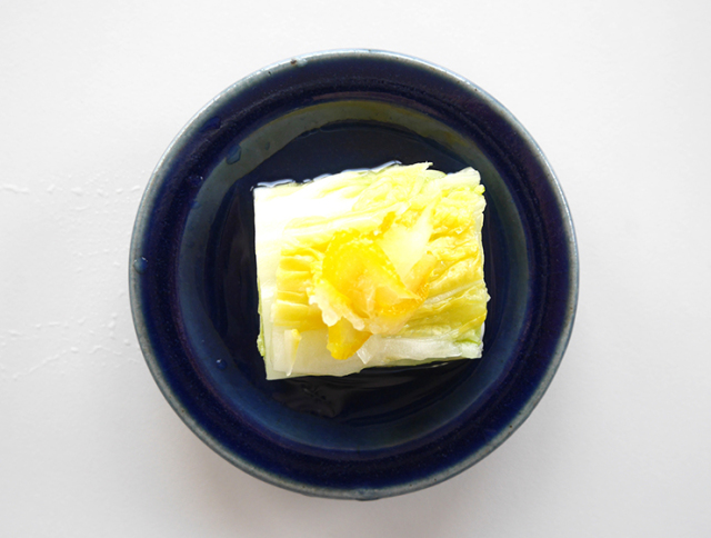 ゆず白菜の浅漬皿盛り