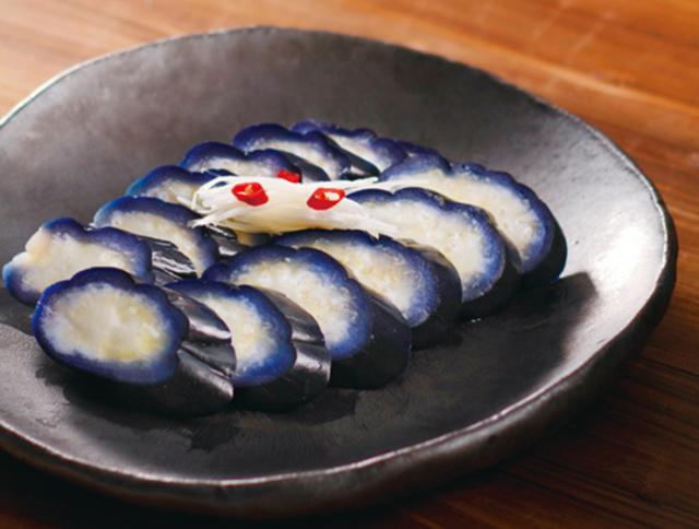 石見銀山茄子わさび風味の浅漬皿盛り