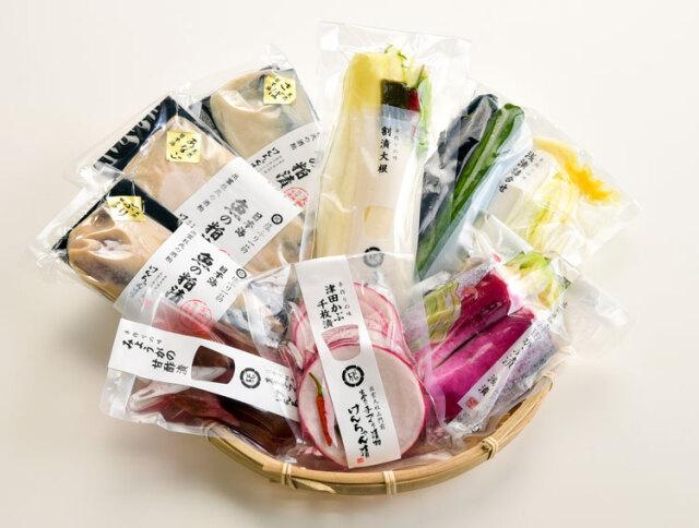 【送料込】漬物と日本海(天然)の魚の粕漬8品セット(11月上旬~出荷開始です)