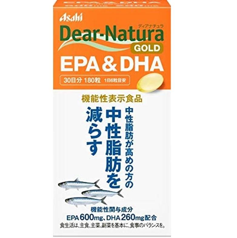 【アサヒフ-ド&ヘルスケア】ディアナチュラゴールド EPA&DHA 30日分 180粒  F20
