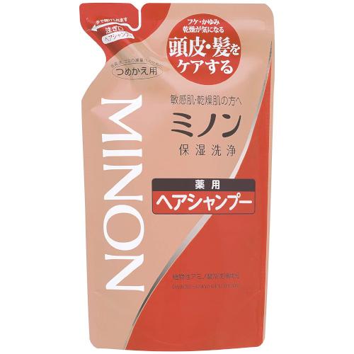 【医薬部外品】ミノン薬用ヘアシャンプー 詰替用 380ml  F10