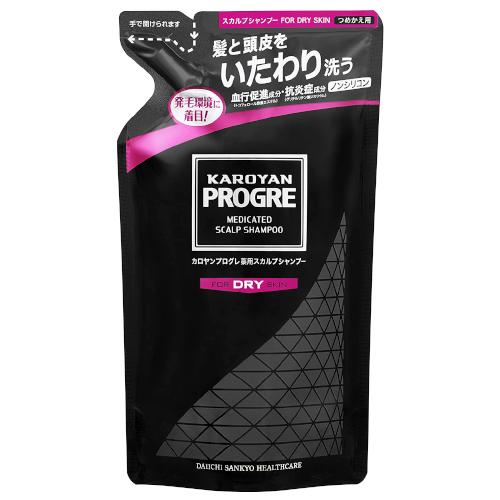 【医薬部外品】カロヤンプログレ薬用スカルプシャンプーDRY 詰め替え用 240ml