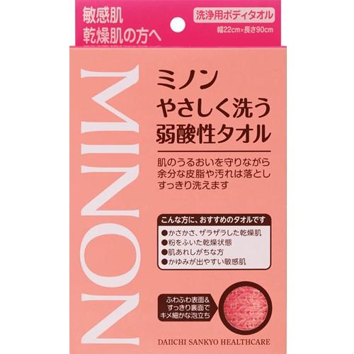 ミノンやさしく洗う弱酸性タオル 1枚