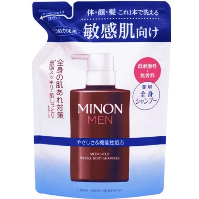 【医薬部外品】ミノンメン 薬用全身シャンプー 詰替 320ml