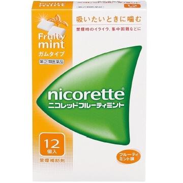 【指定第2類医薬品】ニコレット フルーティミント 12個入  SM税制対象