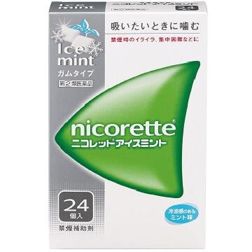 【指定第2類医薬品】ニコレット アイスミント 24個入  SM税制対象