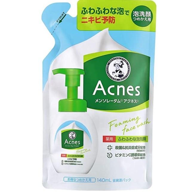 【医薬部外品】メンソレータムアクネス 薬用ふわふわな泡洗顔 詰替用 140ml  F05