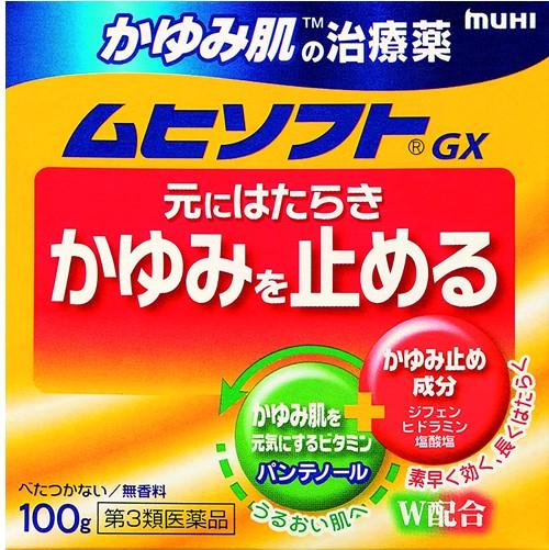 【第3類医薬品】かゆみ肌の治療薬 ムヒソフト 100g