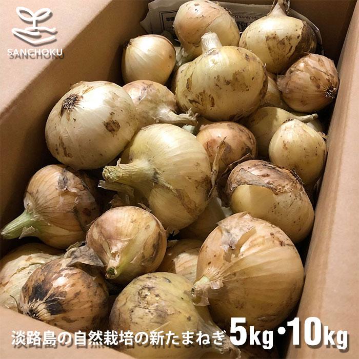 【産地直送】兵庫県淡路島産の新玉ねぎ 5kg・10kg 無農薬・無肥料・無消毒の自然栽培で安心・安全