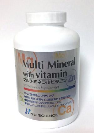 マルチミネラルビタミン オーガニックティルス使用 ニューサイエンス