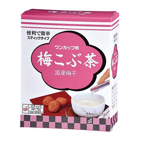梅こぶ茶36本 72g(2g×36袋) スティック