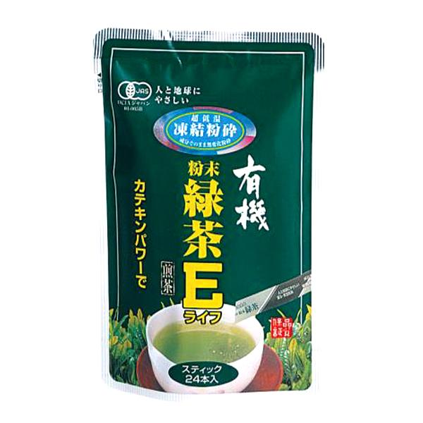 有機粉末緑茶Eライフ24本 12g(0.5g×24袋)