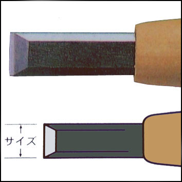 三木章ハイス鋼彫刻刀 平型 画像