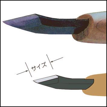 三木章ハイス鋼彫刻刀 キワ曲 右型 画像