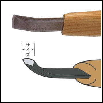 三木章ハイス鋼彫刻刀 相透曲型 画像