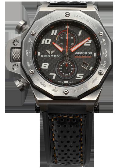 【送料無料】MOTO-R chronograph モトアールクロノグラフモデル シルバー×オレンジ(S787X-13)