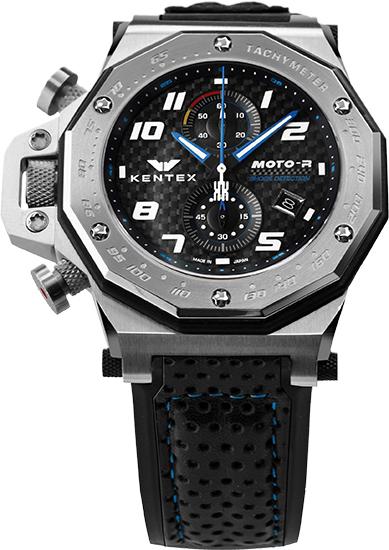 【送料無料】MOTO-R chronograph モトアールクロノグラフモデル シルバー×ブルー(S787X-02)