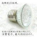 省エネ 消費電力1ワット E-26規格 LED18灯電球 白色光