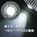 スーパーLED電球アルミレンズ E26 白