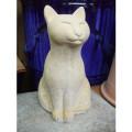 ガーデン雑貨 ネコの置物 座っている猫