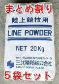 まとめ割りラインパウダー 競技用白線 スポーツ石灰 20kg×5袋セット