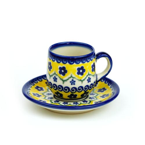 ポーランド陶器 エスプレッソカップ&ソーサー