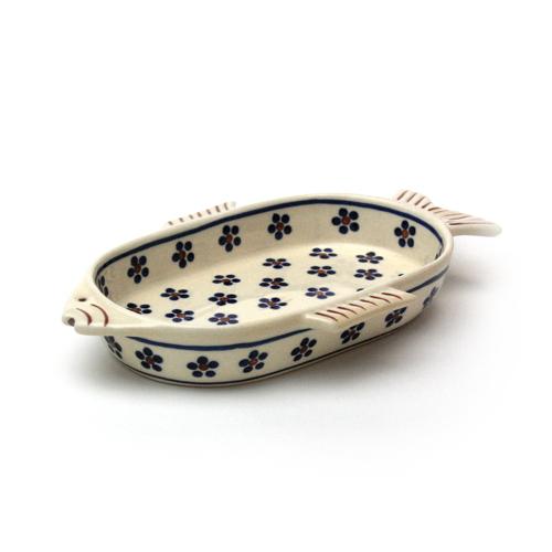 ポーランド陶器 おさかなディッシュ