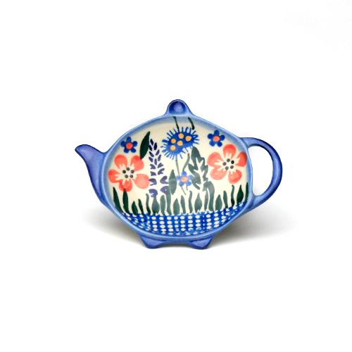 ポーランド陶器 ティーバックトレイ