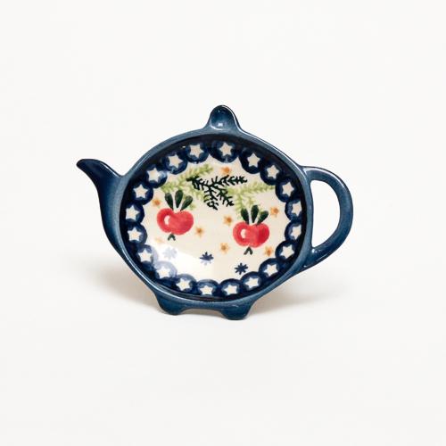 ポーランド陶器 ティーバッグトレイ
