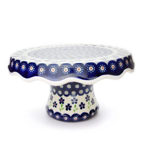 ポーランド陶器 ケーキスタンド