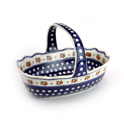 ポーランド陶器 バスケット