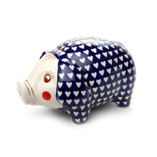 ポーランド陶器 ぶたの貯金箱