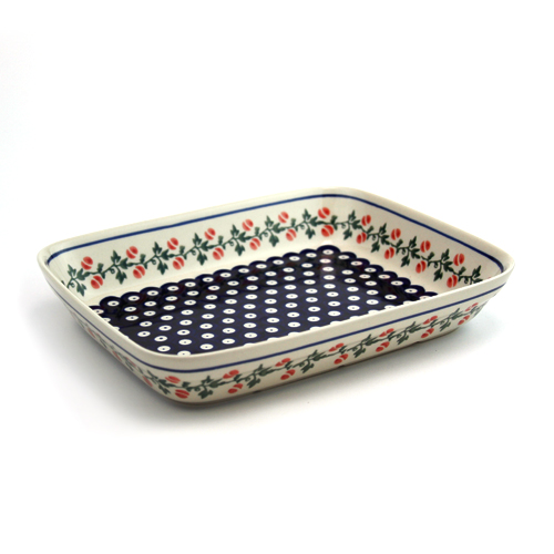 ポーランド陶器 オーブン皿・スクエア・大