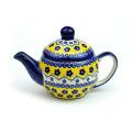 ポーランド陶器 ティーポット・小