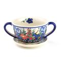 ポーランド陶器 スープカップ&ソーサー