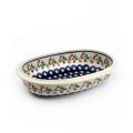 ポーランド陶器 オーブン皿・オーバル・中