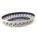 ポーランド陶器 オーブン皿・オーバル特大