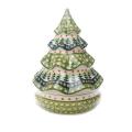 ポーランド陶器 クリスマスキャンディーボックス